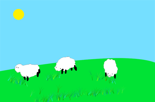 This is the sheep image that we are going to use to help you learn Photoshop layers.