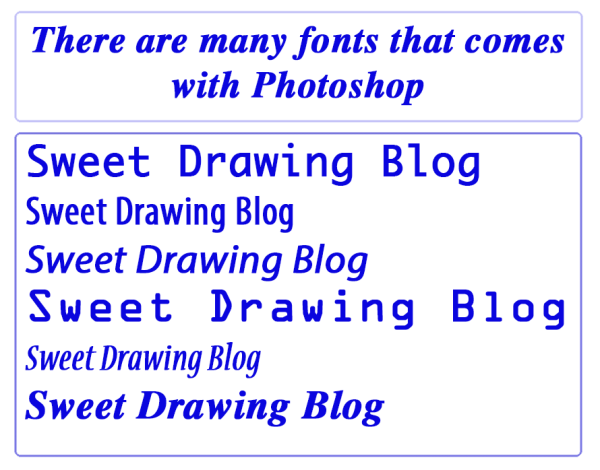 Photoshop-Fonts