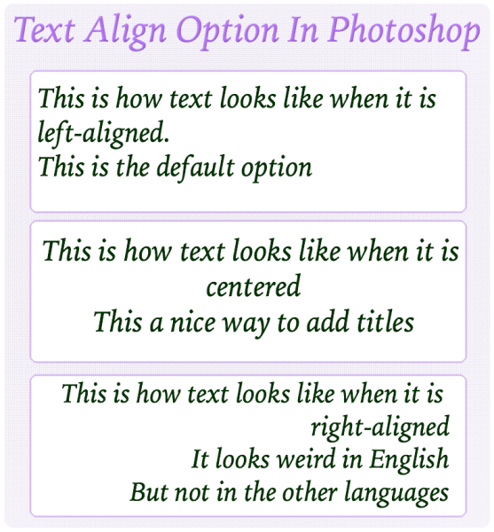 Text-Align-Options