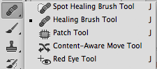 Access Spot Healing Brush Tool