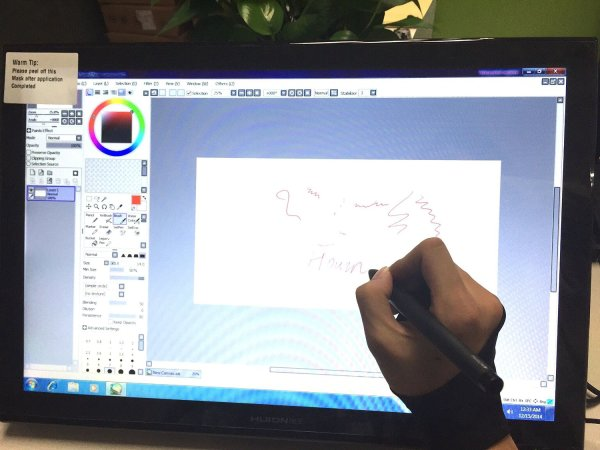 Huion GT-190S In Action, Winows XP