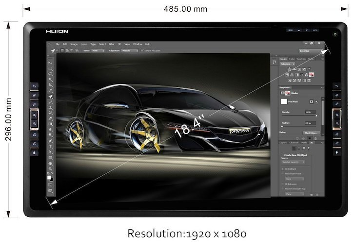 Huion GT-185HD Screen