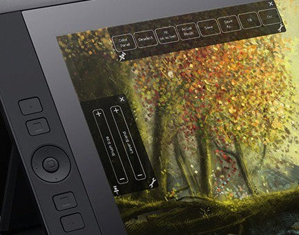 Wacom Cintiq 13 Pen and Touch Tablet On-Screen Controls
