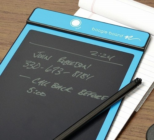 Boogie Board can be a good way to save paper