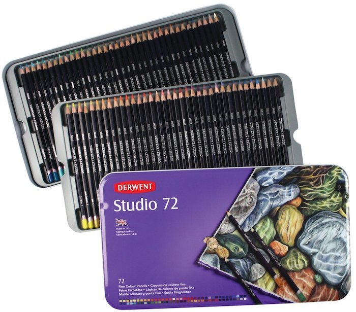 Derwent Colored Pencils 72 Studio Tin Box