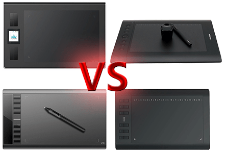 Huion DWH69 VS Ugee M708 VS Huion H610 Pro VS Huion 1060 PLUS