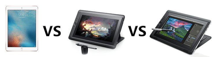 iPad Pro VS Cintiq 13HD VS Cintiq Companion 2 Drawing Devices Comparison