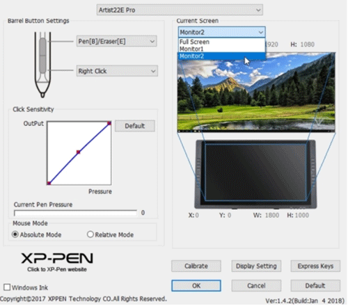 XP-PEN-Artist22E-Driver-Settings