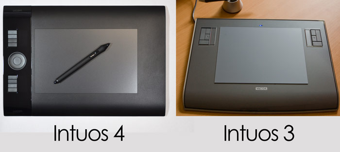 Intuos VS Intuos Pro comparison, what are the differences