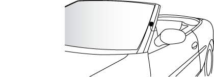 Antenna mounted on front driver's side pillar