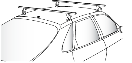 Antenna mouonted close to roof rack
