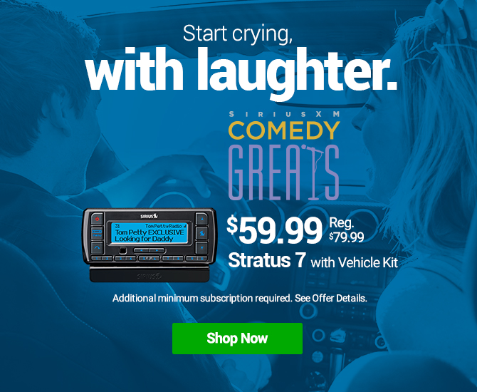 Hear Comedy Greats On SiriusXM with Stratus 7 with Vehicle Kit Radio