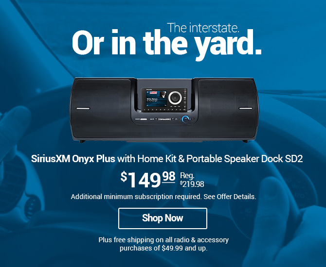 Onyx Plus with Vehicle Kit & Portable Speaker Dock