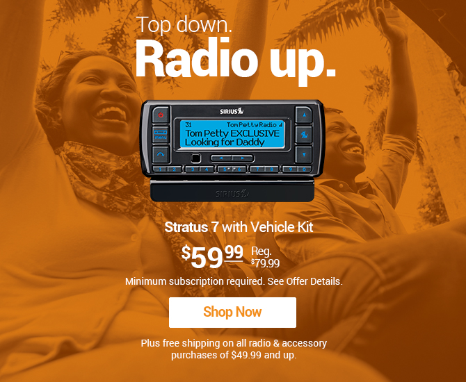 Stratus 7 Radio $59.99 with new subscription required Shop Mobile Now