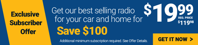 Get our best selling radio for your car and home for $199- click here