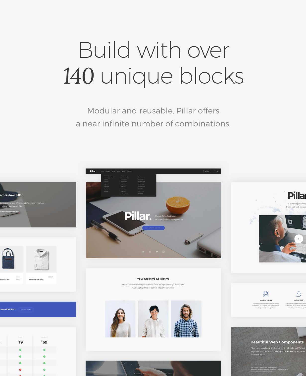 Pillar - 140 unique blocks