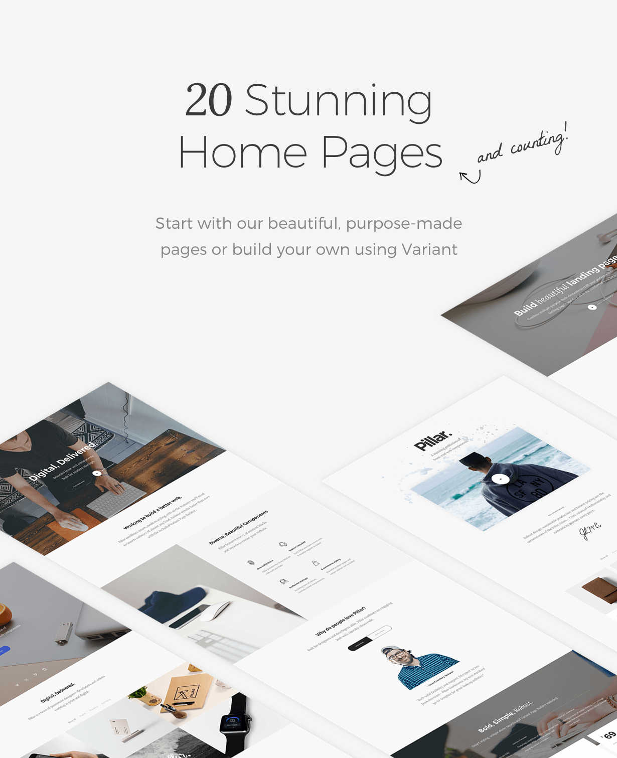 Pillar - 20 stunning homepages