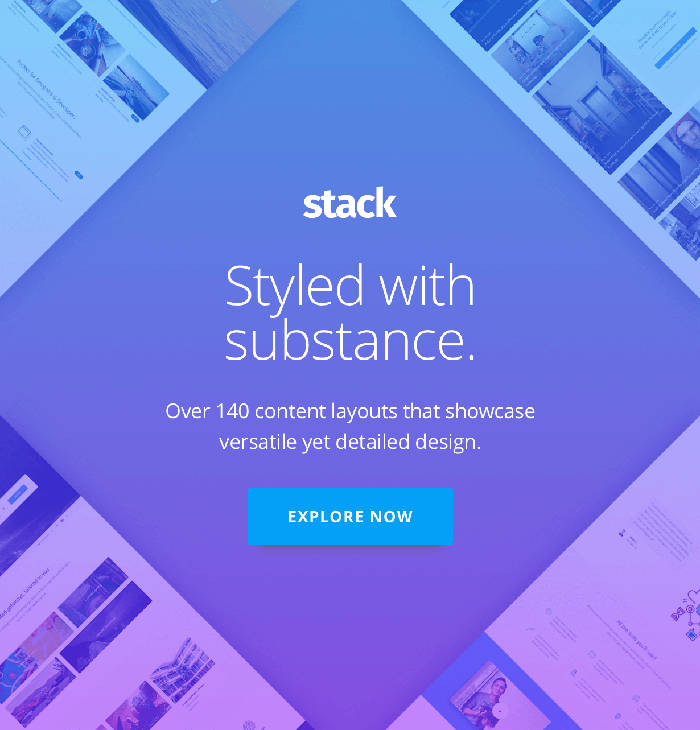 Stack styled with substance