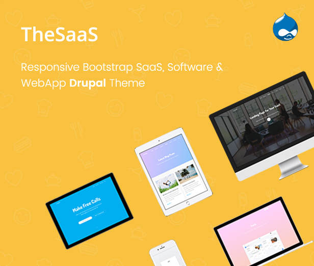 TheSaaS - Responsive Bootstrap SaaS, Software & WebApp Drupal Theme