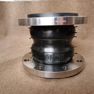 Twin sphere rubber expansion joint