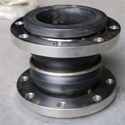 Stainless steel flange double ball rubber joint