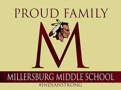 Millersburg Middle School Yard Sign with Metal Stake