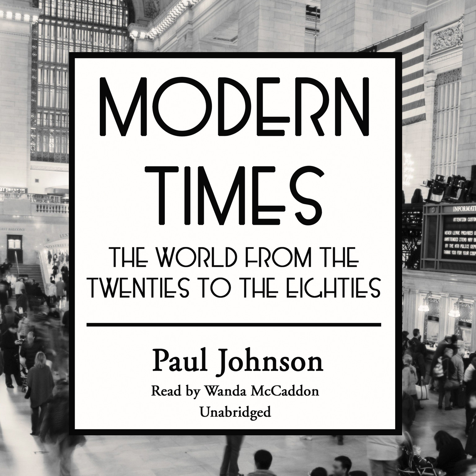 Printable Modern Times: The World from the Twenties to the Eighties Audiobook Cover Art