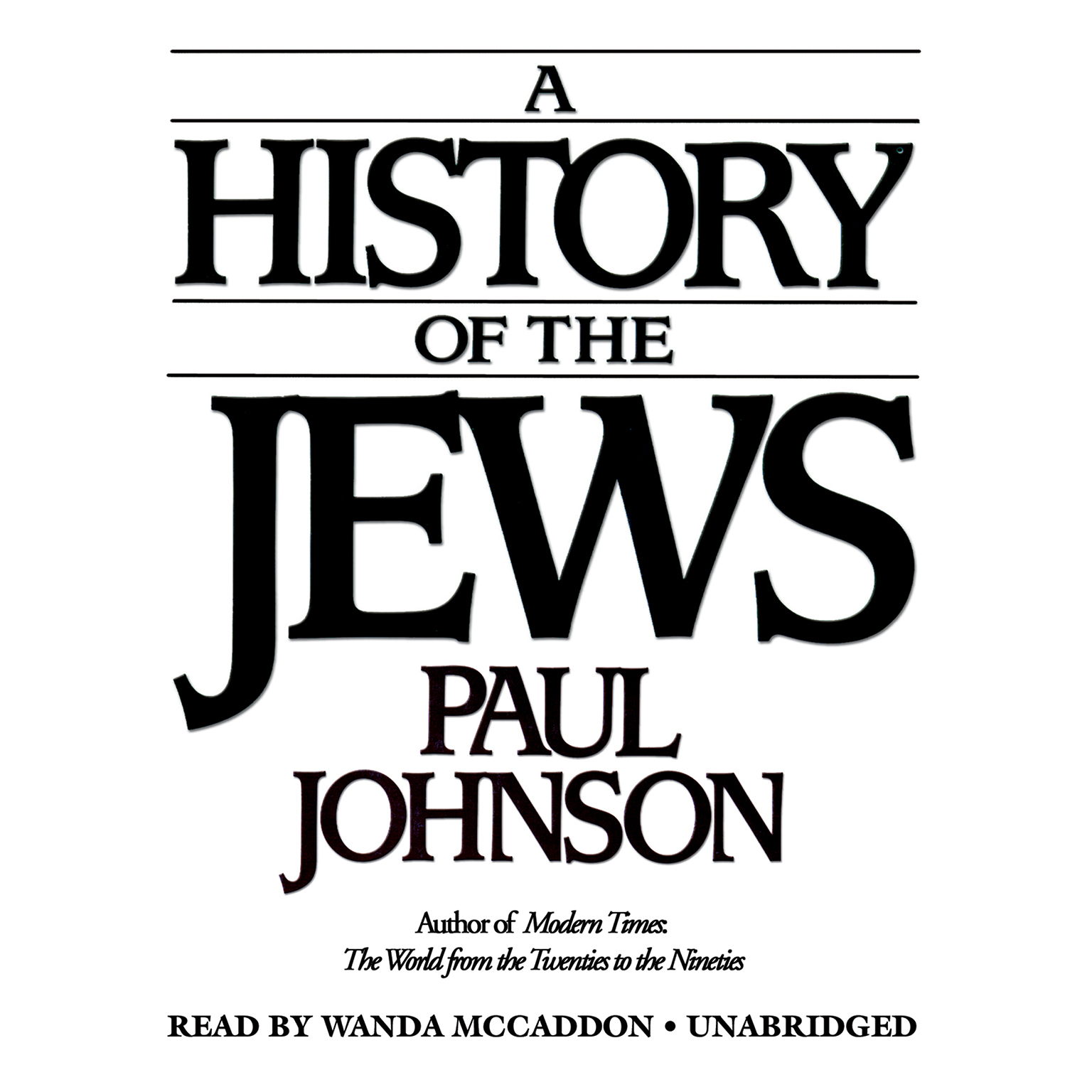 Printable A History of the Jews Audiobook Cover Art