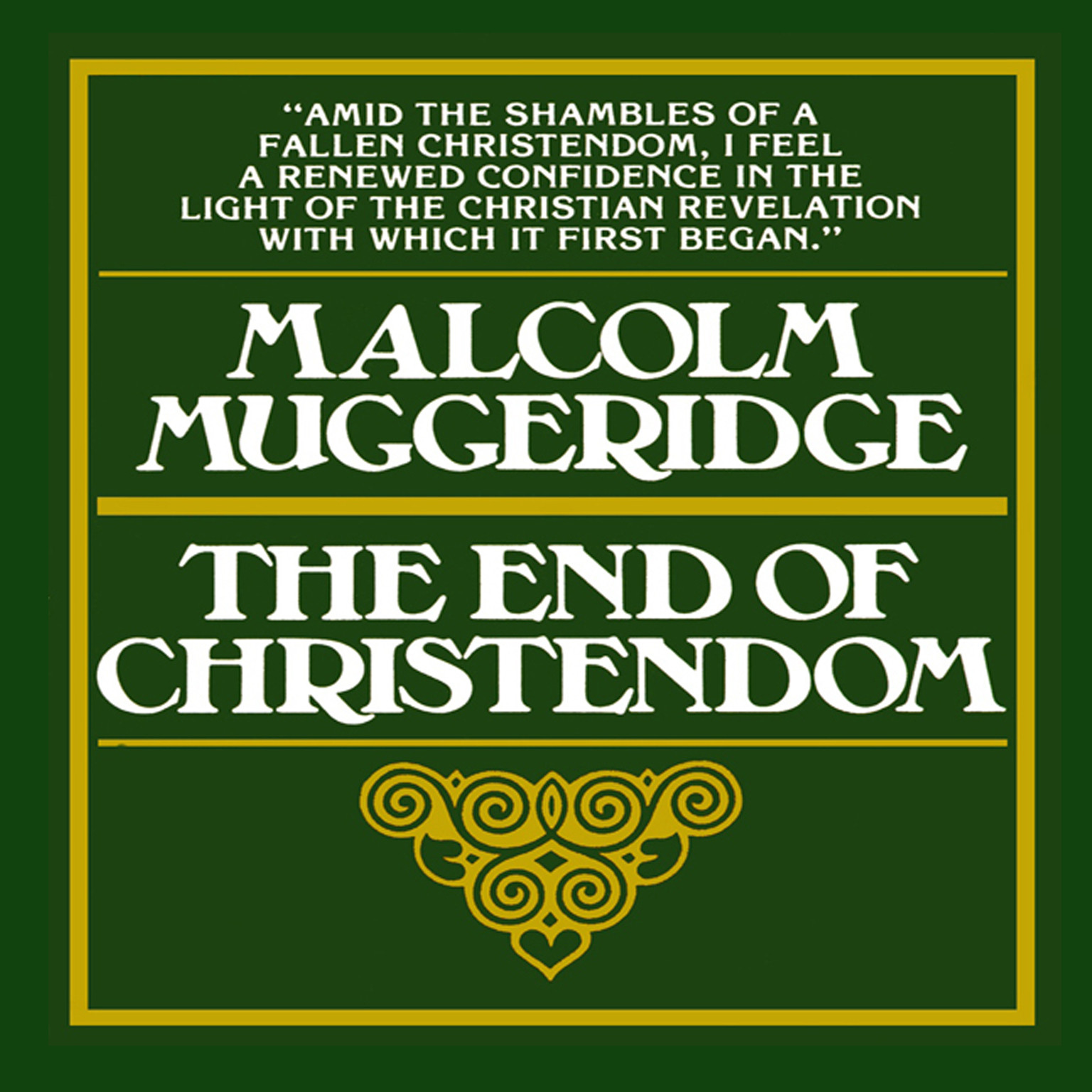 Printable The End of Christendom Audiobook Cover Art