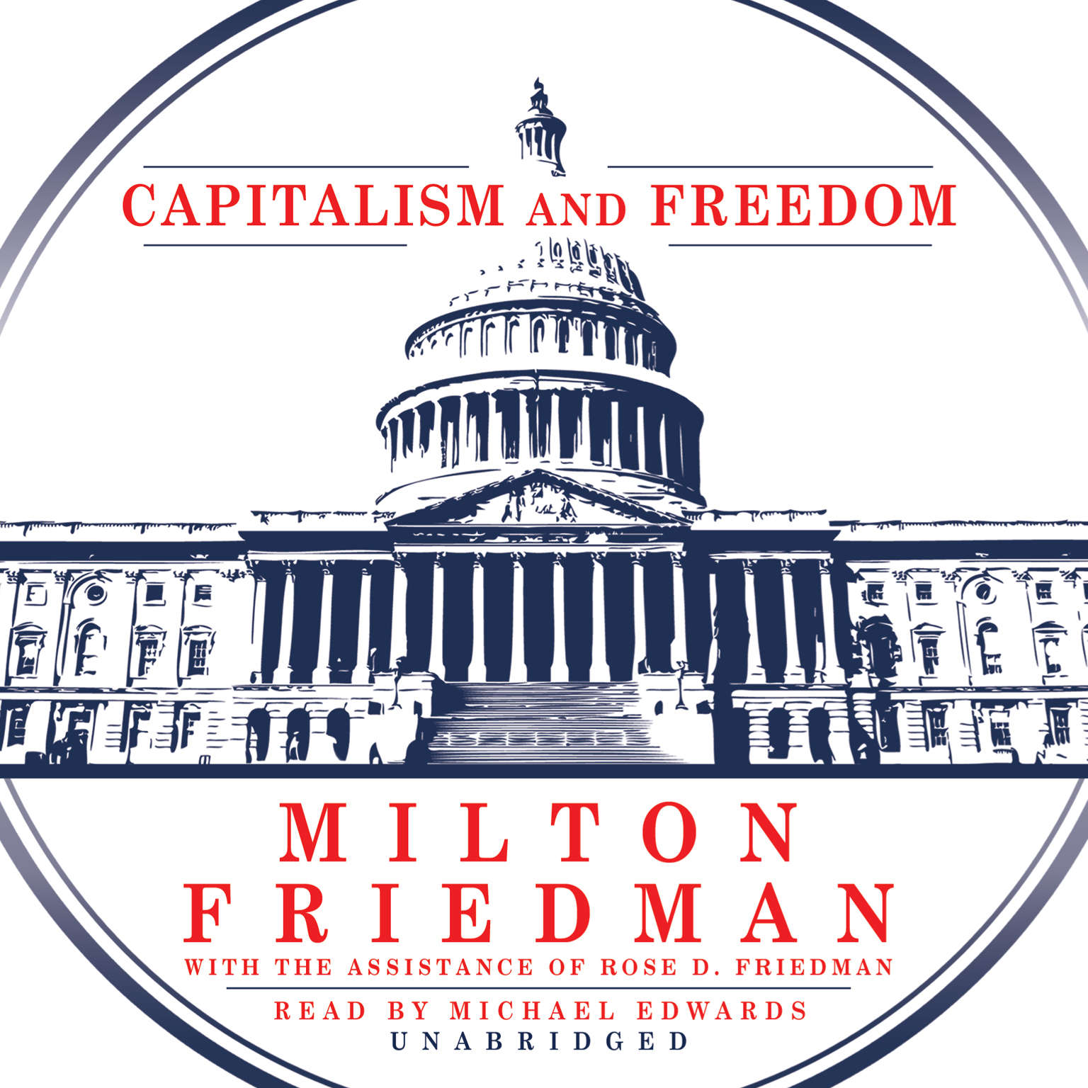 Printable Capitalism and Freedom Audiobook Cover Art