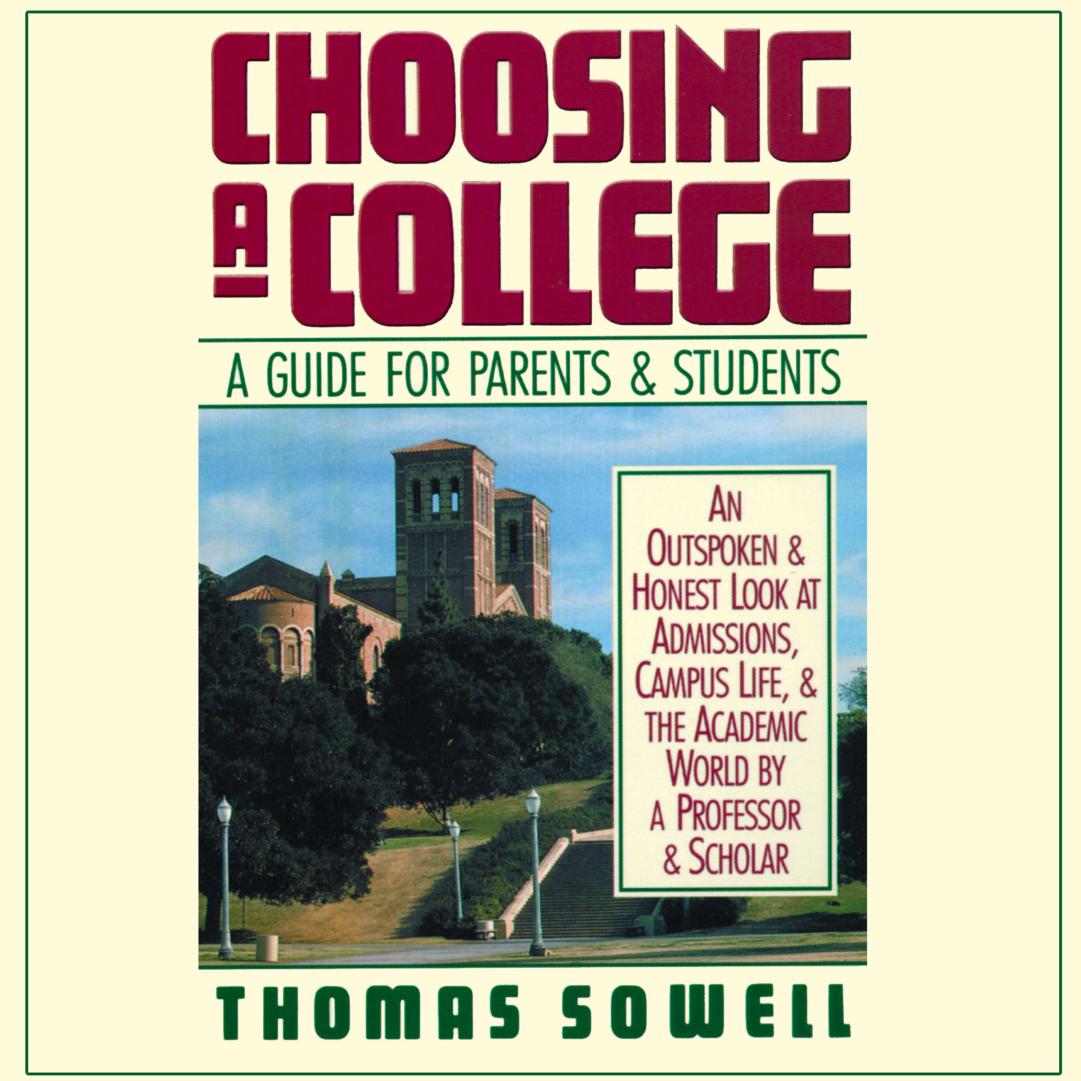 Printable Choosing a College: A Guide for Parents & Students Audiobook Cover Art