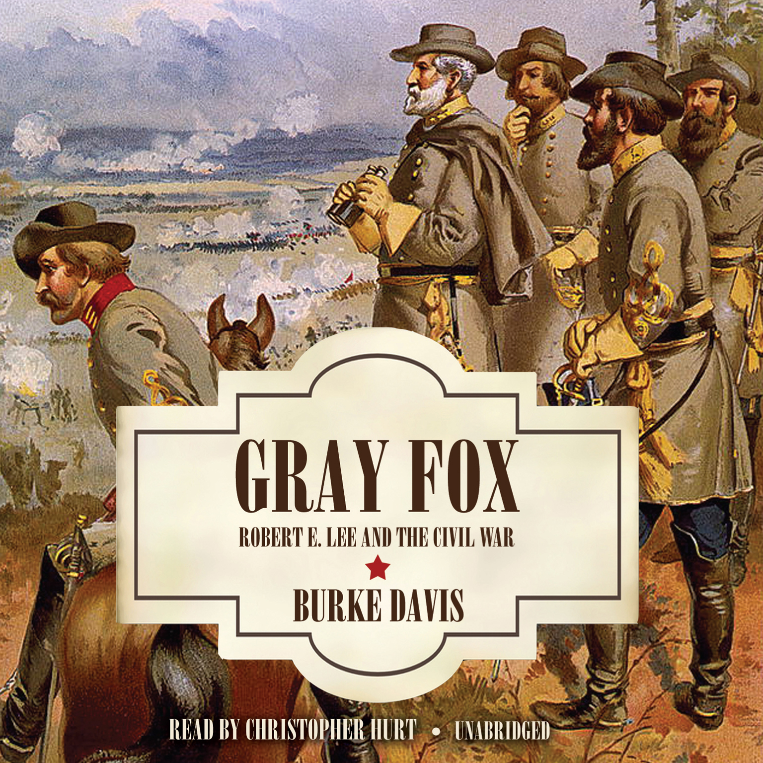 Printable Gray Fox: Robert E. Lee and the Civil War Audiobook Cover Art