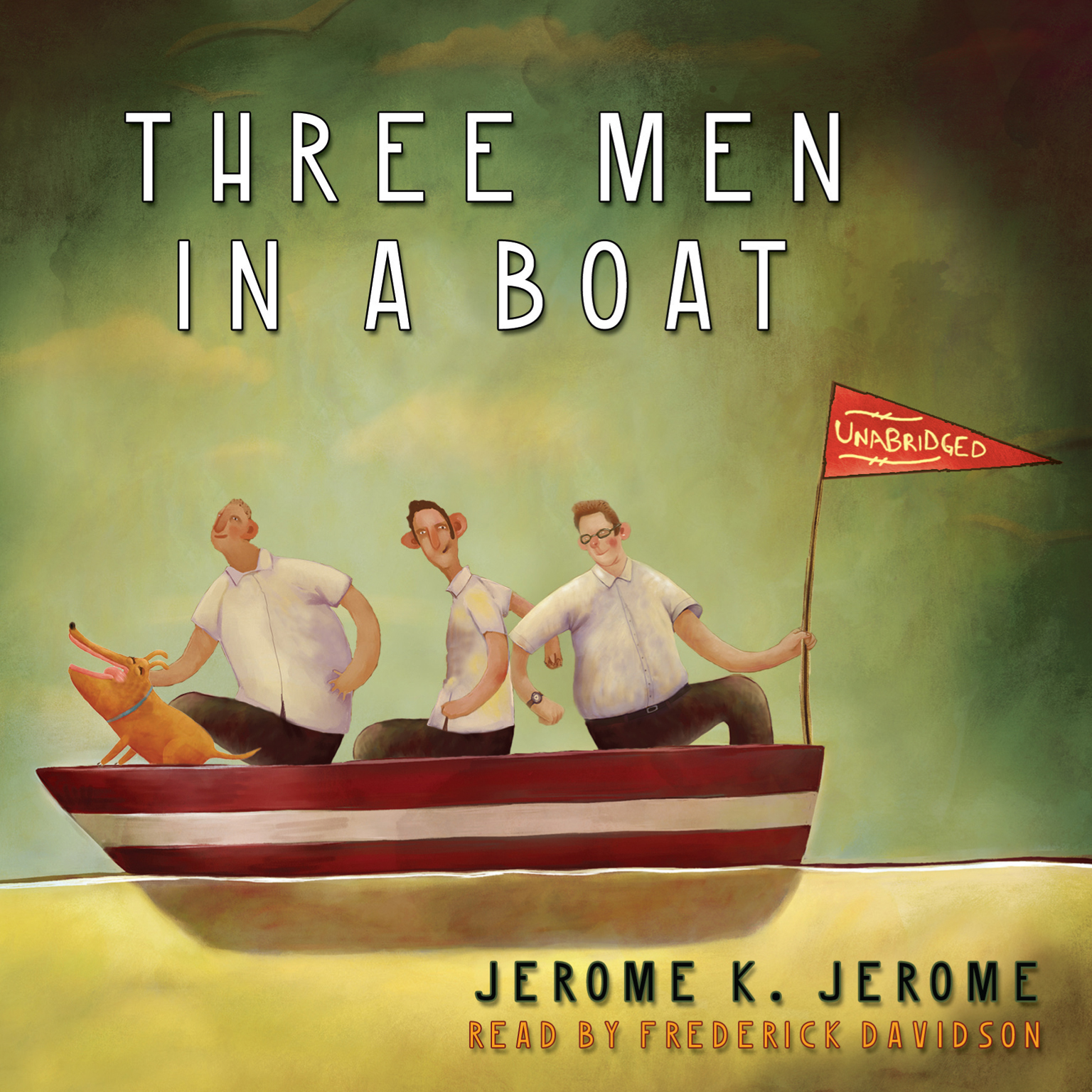 Printable Three Men in a Boat Audiobook Cover Art