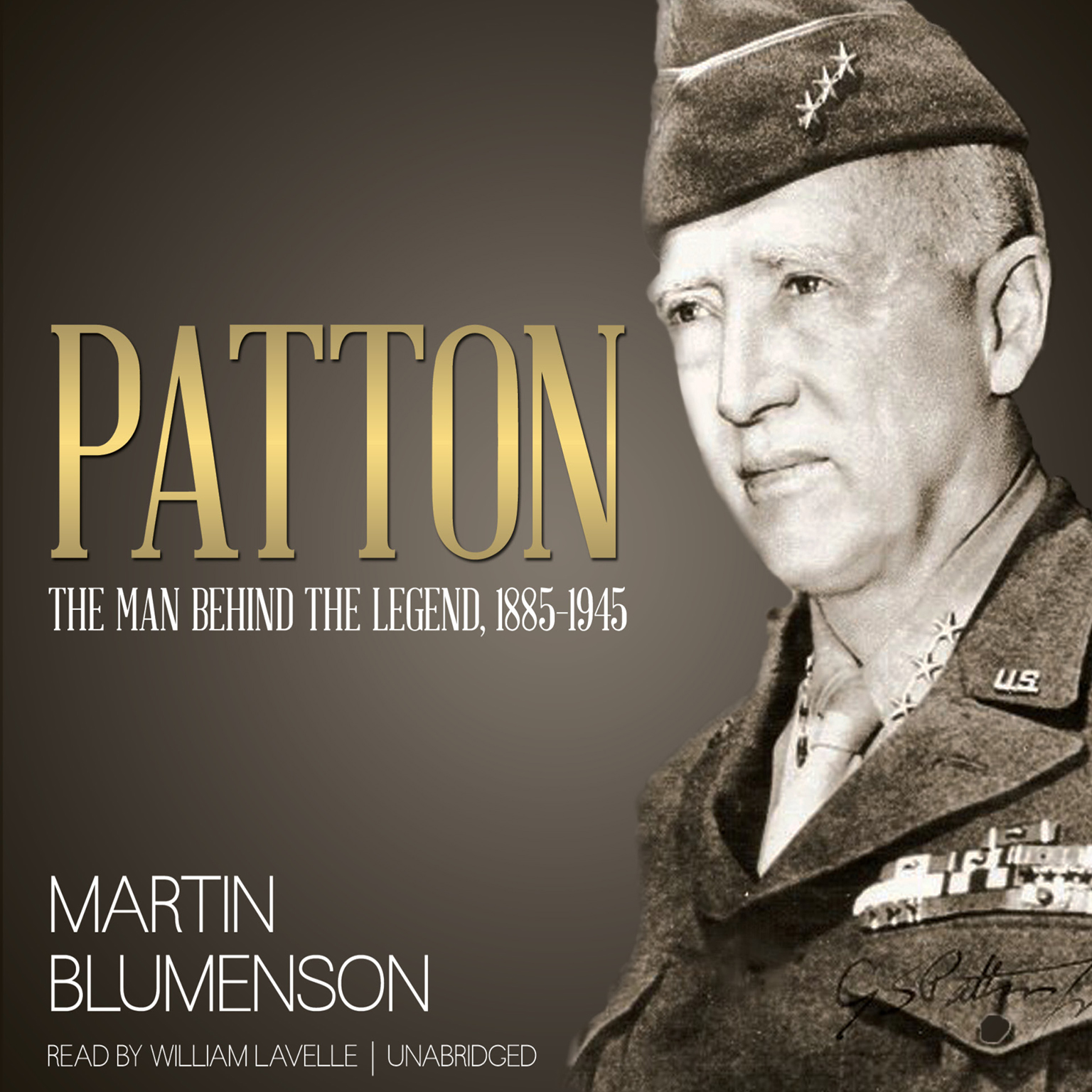 Printable Patton: The Man behind the Legend, 1885–1945 Audiobook Cover Art