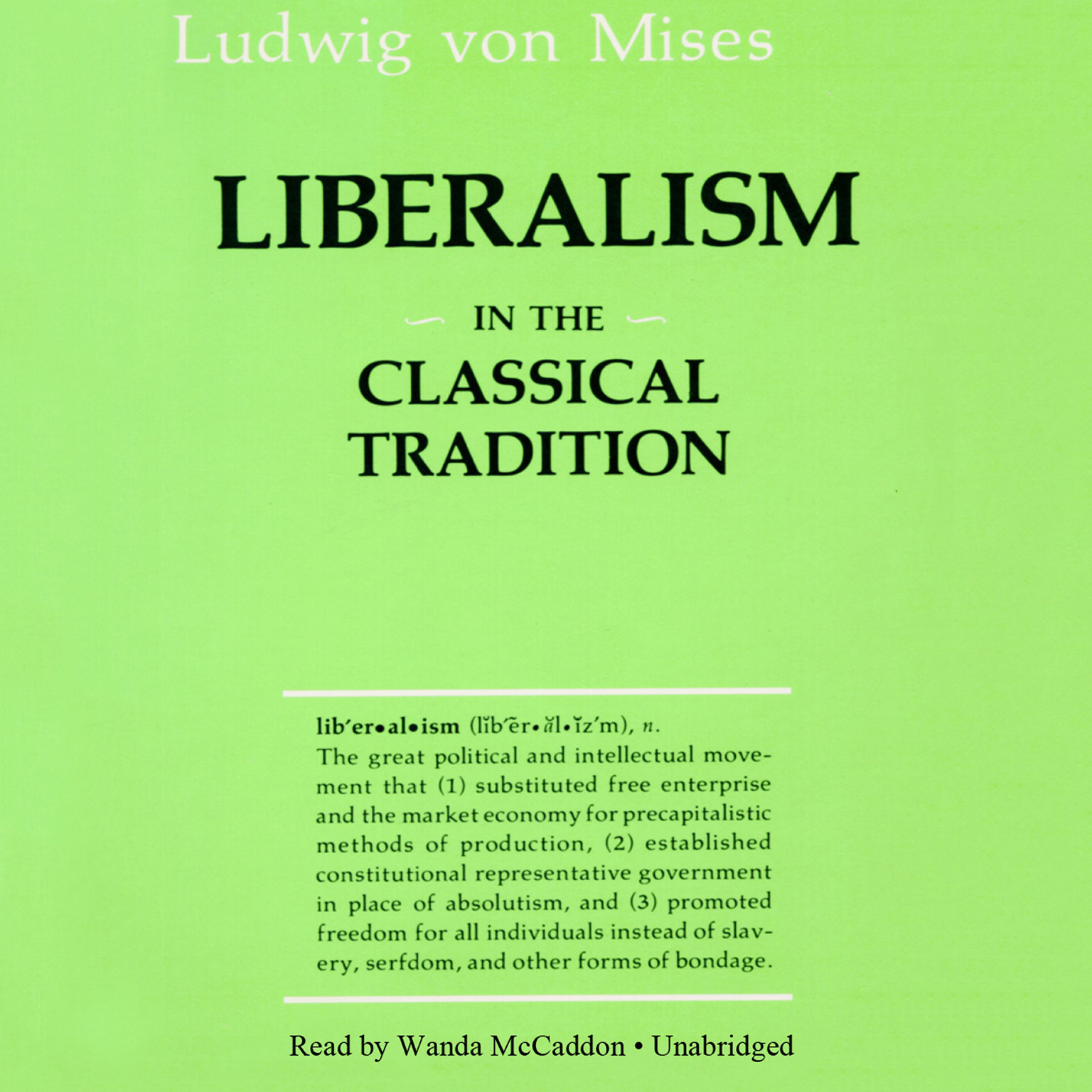 Printable Liberalism in the Classical Tradition: In the Classical Tradition Audiobook Cover Art