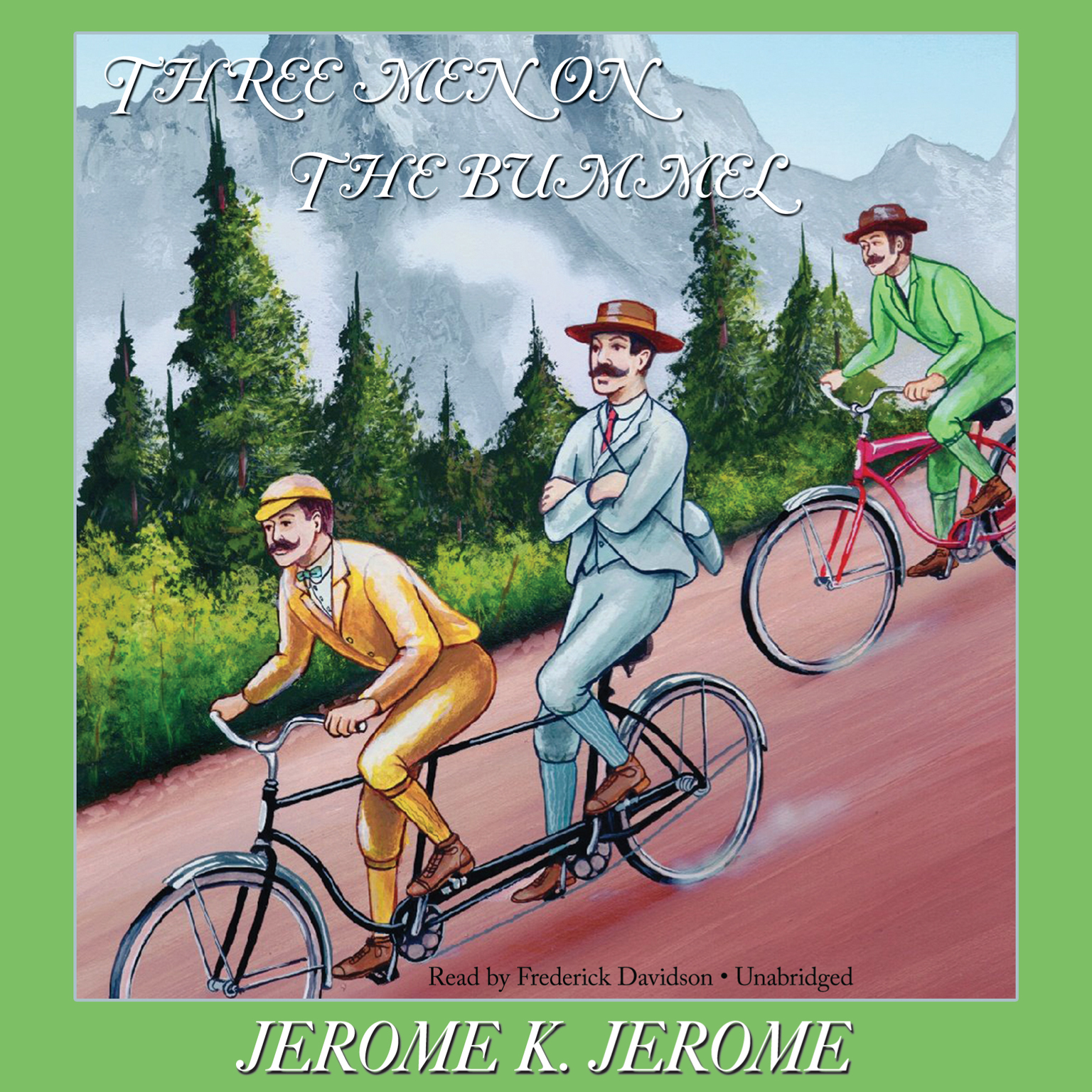 Printable Three Men on the Bummel Audiobook Cover Art