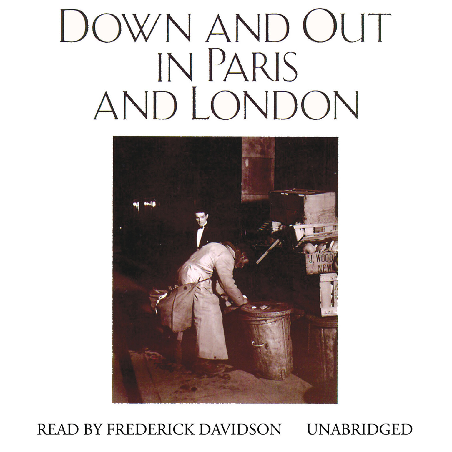 Printable Down and Out in Paris and London Audiobook Cover Art