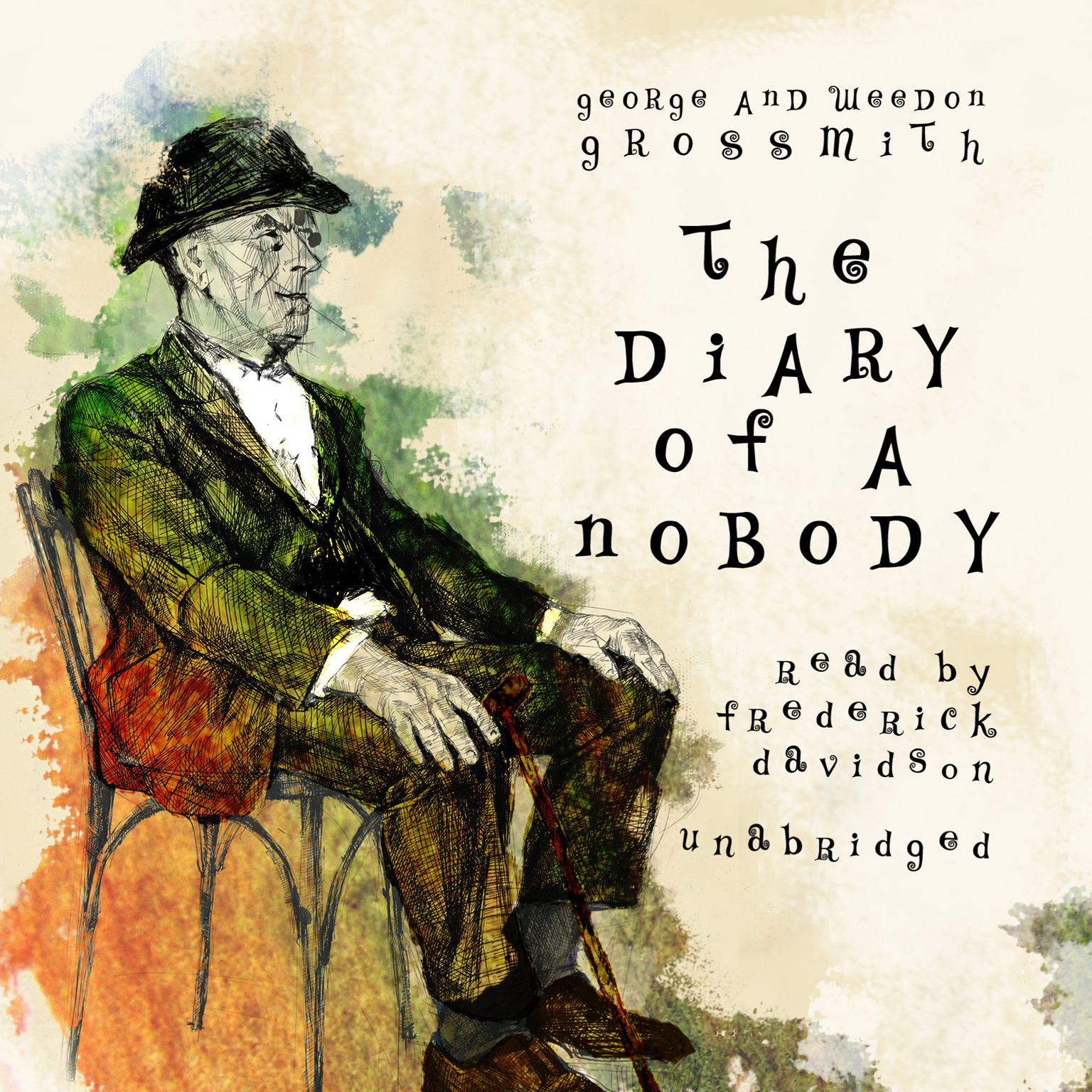 Printable The Diary of a Nobody Audiobook Cover Art