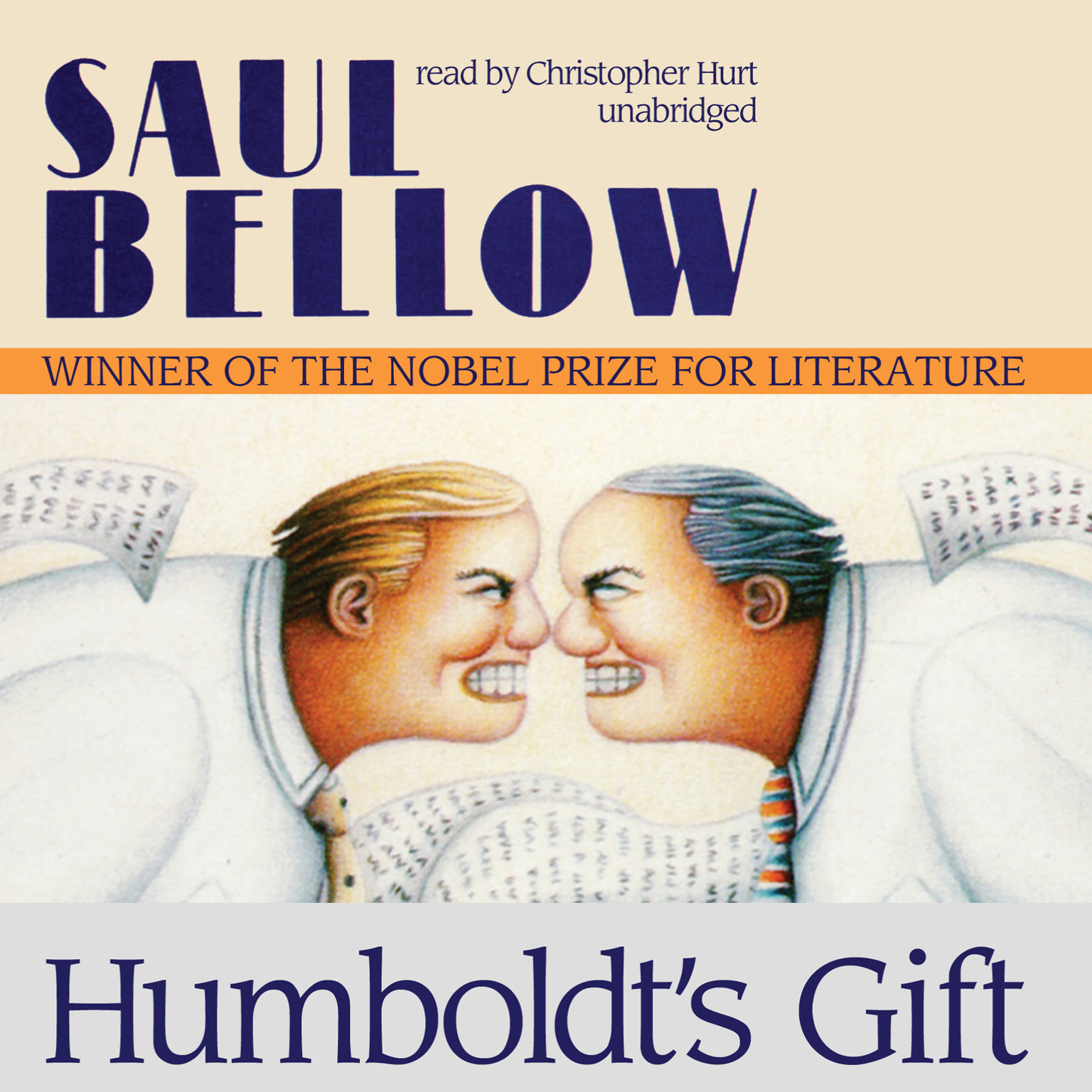 Printable Humboldt's Gift Audiobook Cover Art