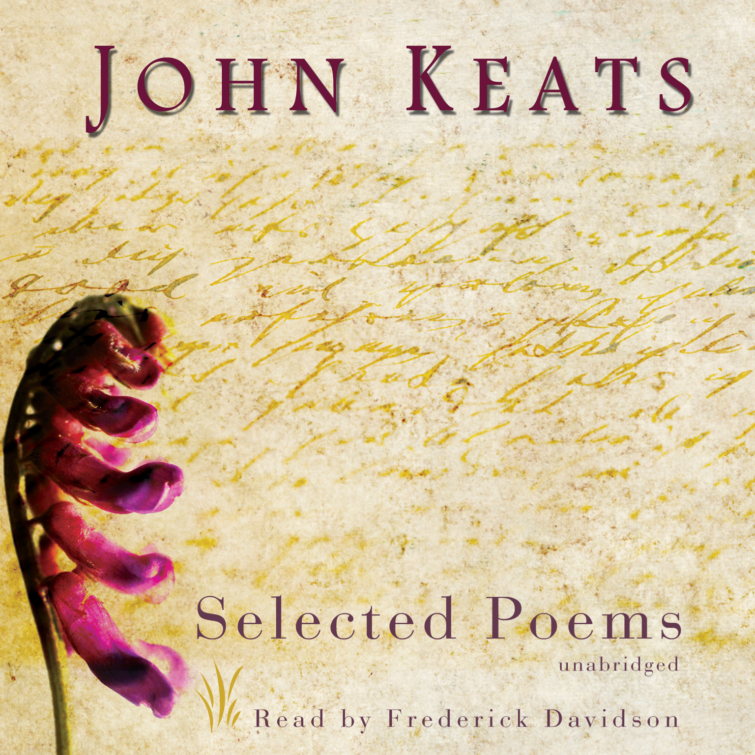 Printable John Keats: Selected Poems Audiobook Cover Art