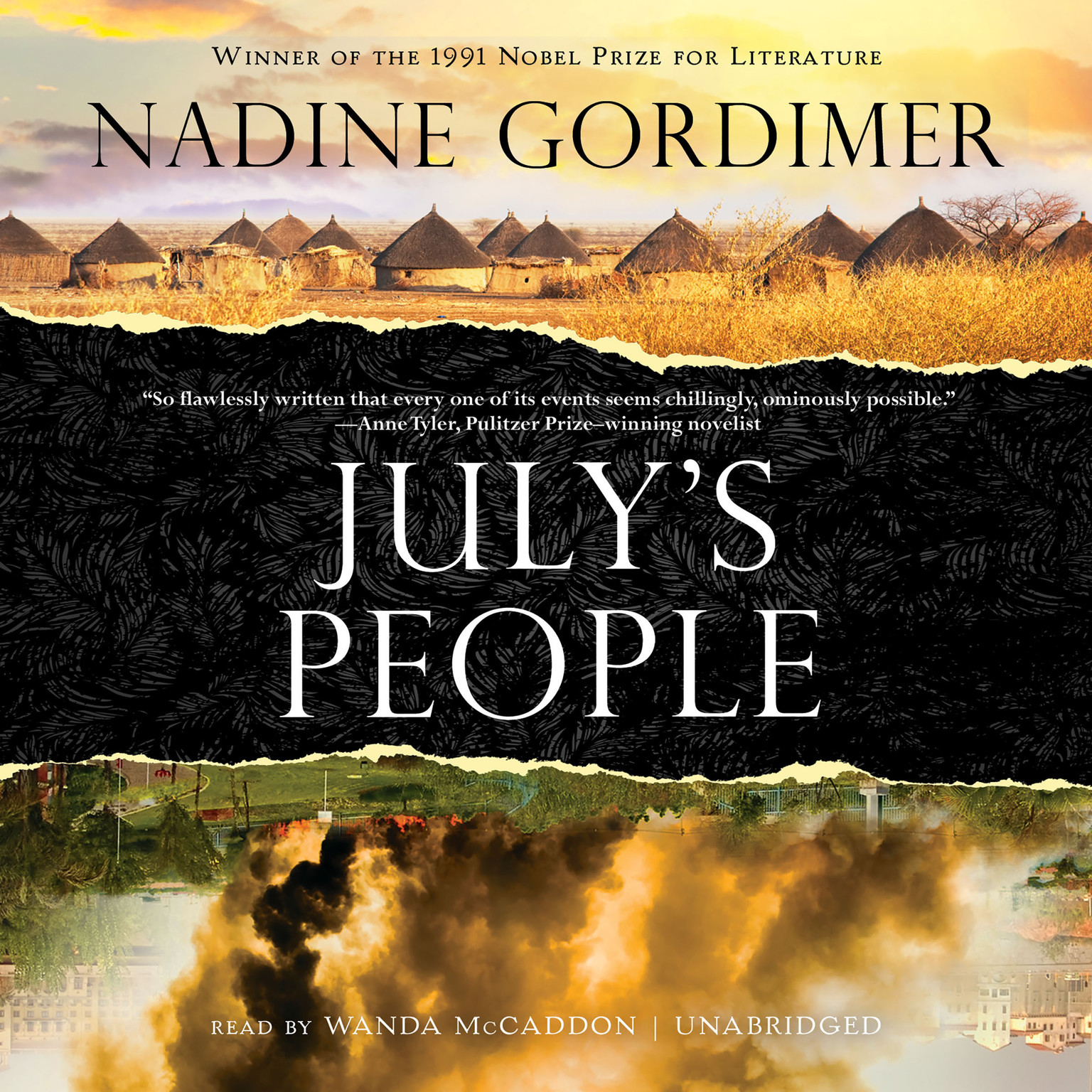 Printable July's People Audiobook Cover Art