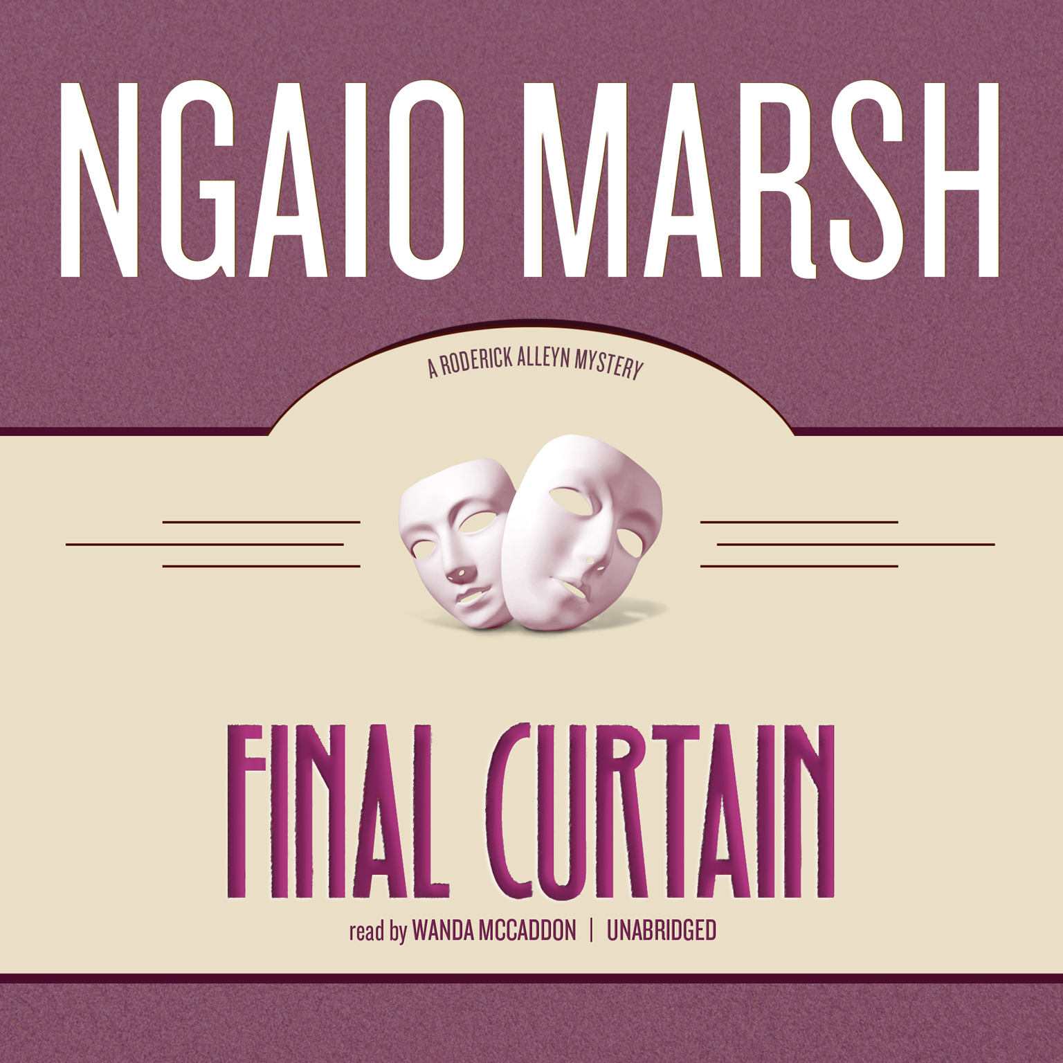 Printable Final Curtain Audiobook Cover Art