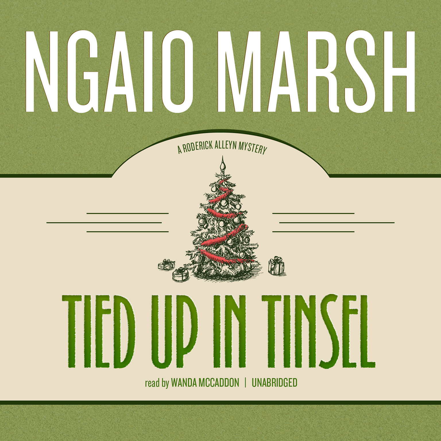 Printable Tied Up in Tinsel Audiobook Cover Art