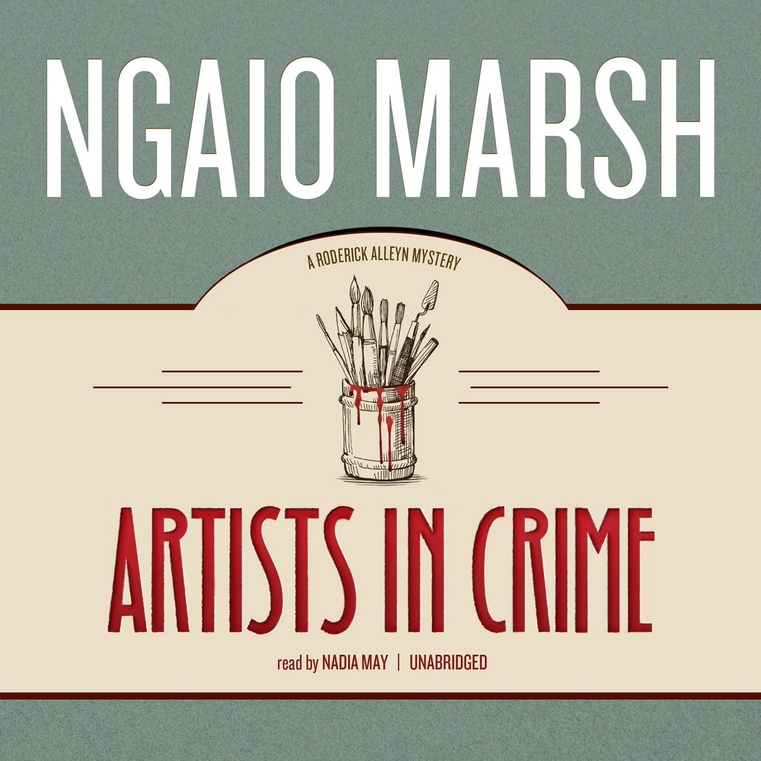 Printable Artists in Crime Audiobook Cover Art