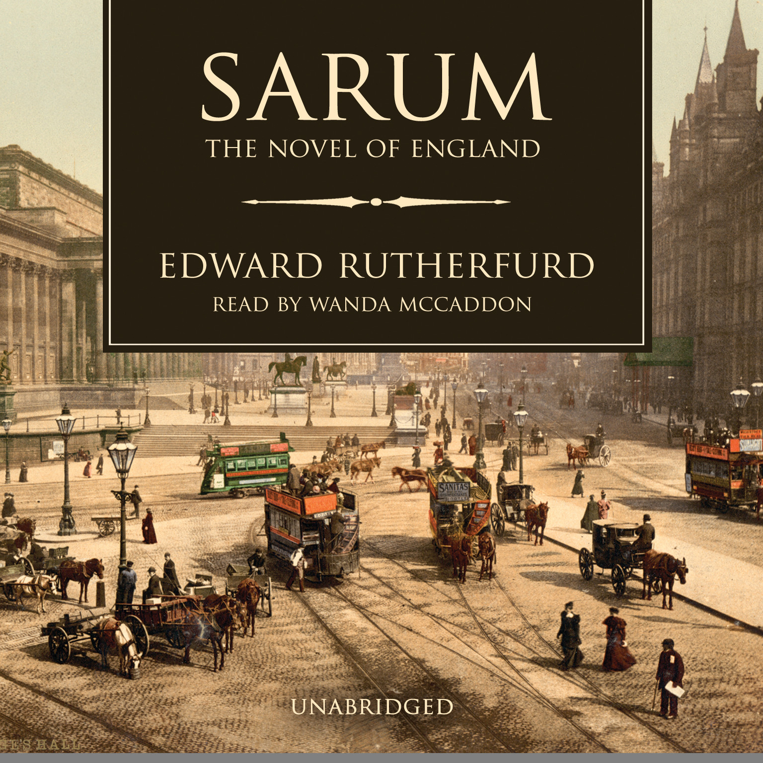 Printable Sarum: The Novel of England Audiobook Cover Art