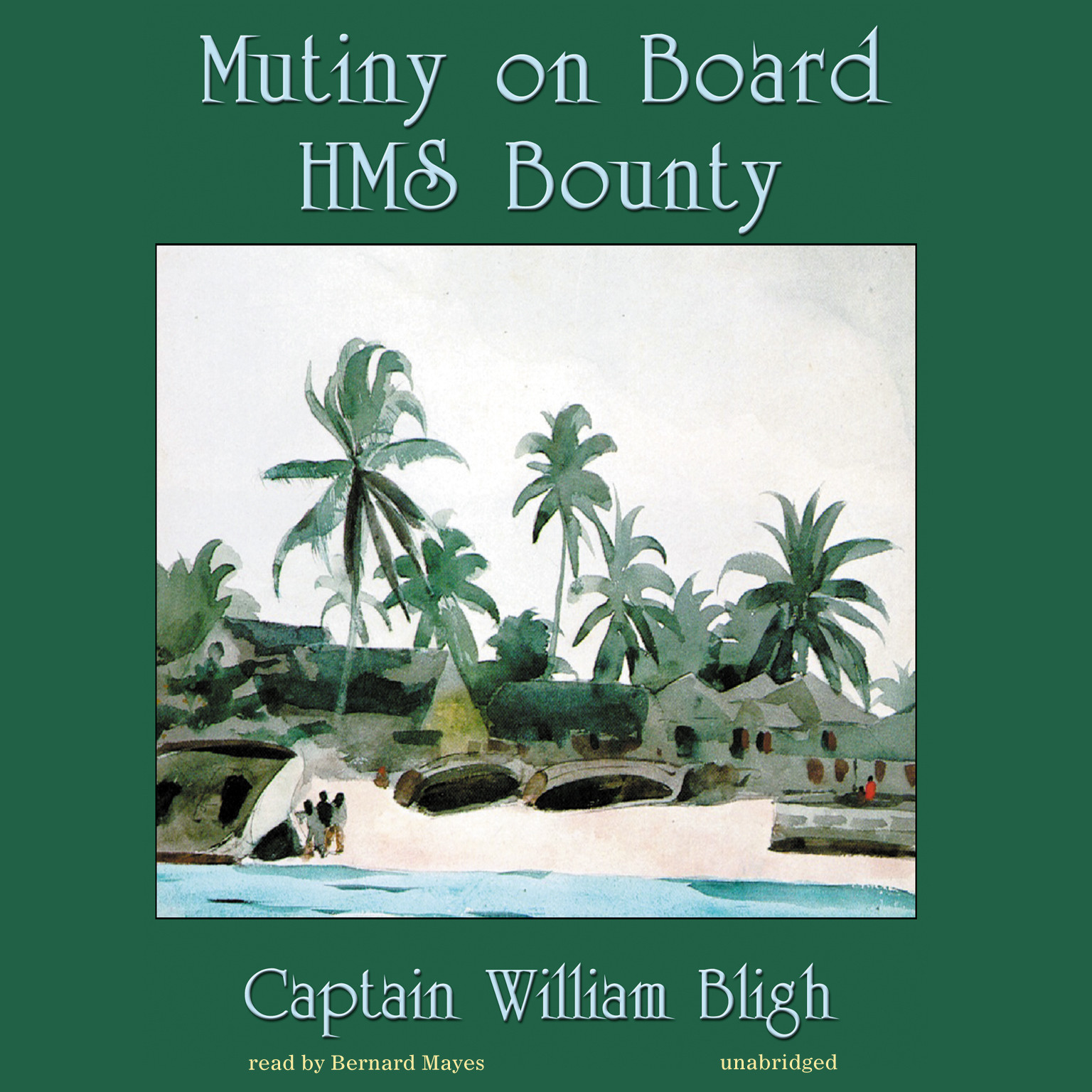 Printable Mutiny on Board HMS Bounty Audiobook Cover Art
