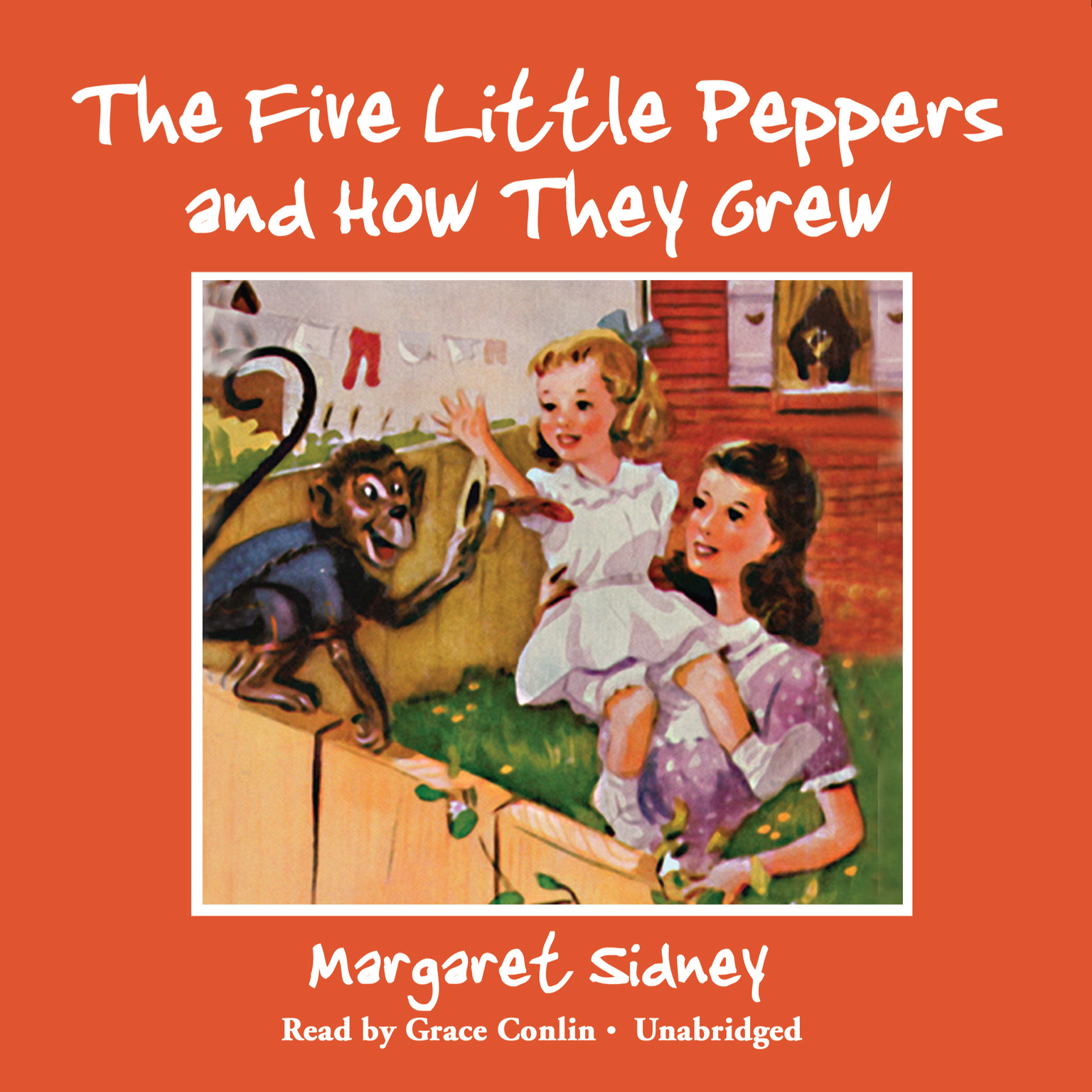Printable The Five Little Peppers and How They Grew Audiobook Cover Art