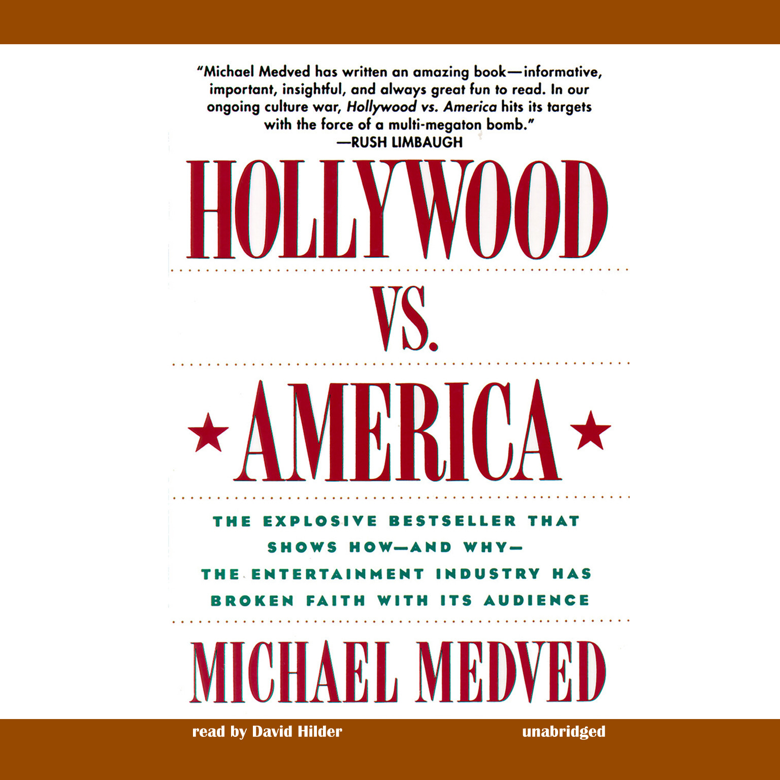 Printable Hollywood vs. America: Popular Culture and the War on Traditional Values Audiobook Cover Art