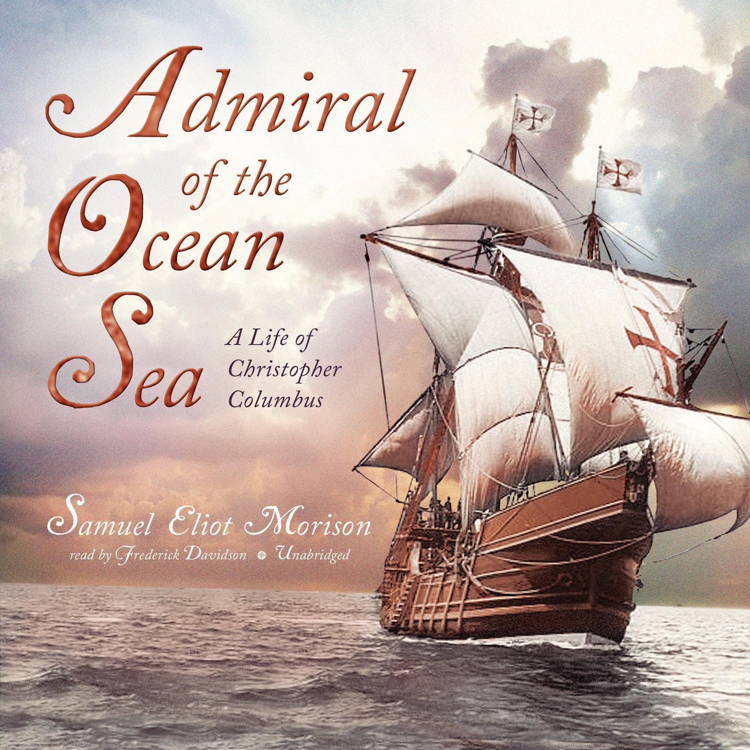 Printable Admiral of the Ocean Sea: A Life of Christopher Columbus Audiobook Cover Art