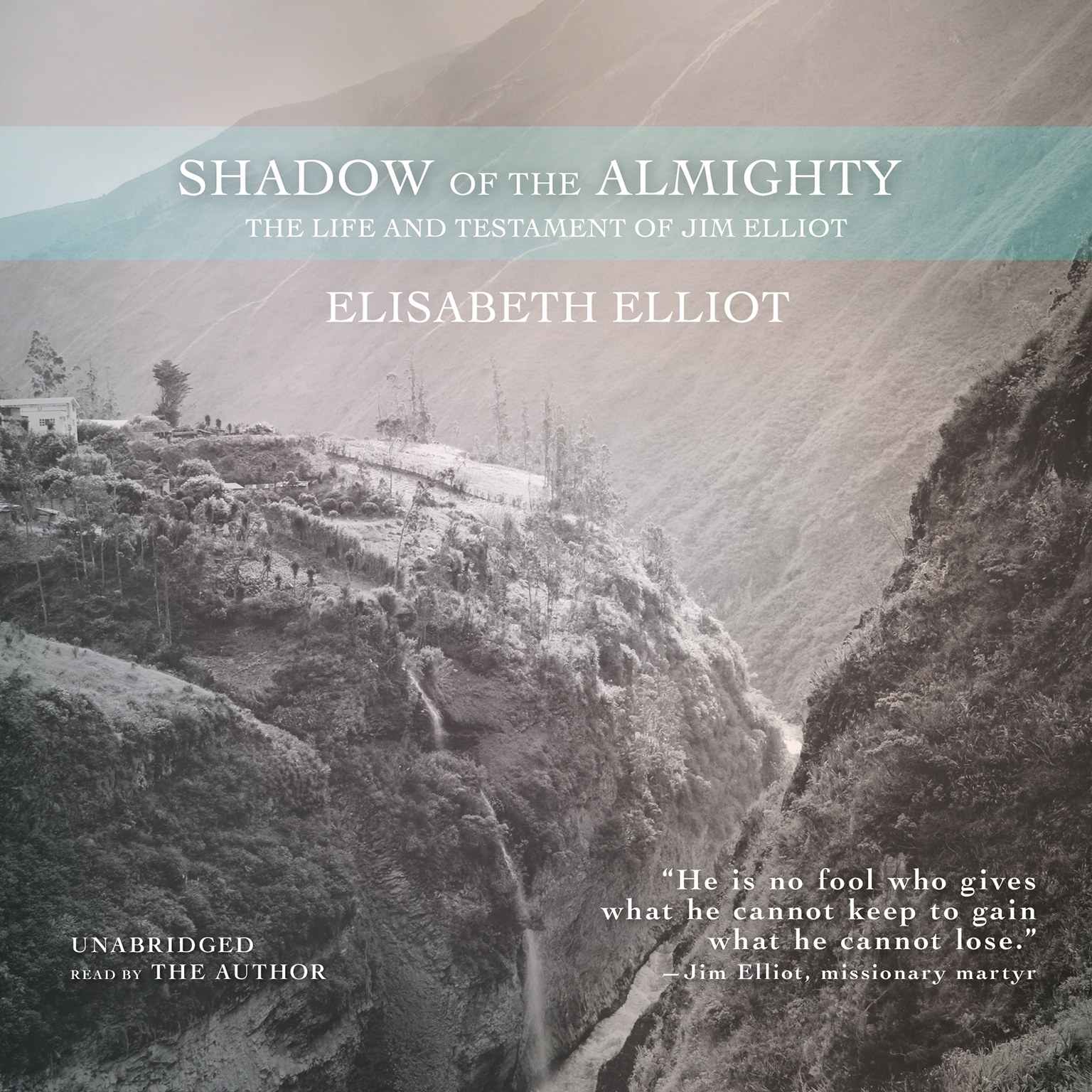 Printable Shadow of the Almighty: The Life and Testament of Jim Elliot Audiobook Cover Art